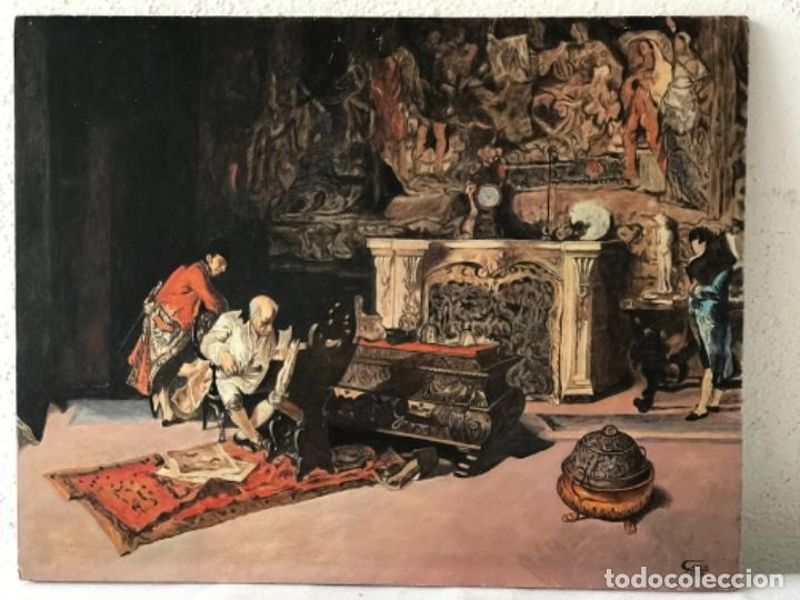 OLEO SOBRE TABLEX COPIA DE MARIA FORTUNY. (Arte - Pintura - Pintura al Óleo Contemporánea )
