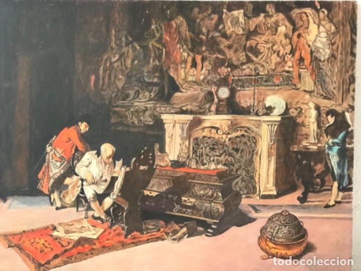 Arte: OLEO SOBRE TABLEX COPIA DE MARIA FORTUNY. - Foto 2 - 257265815