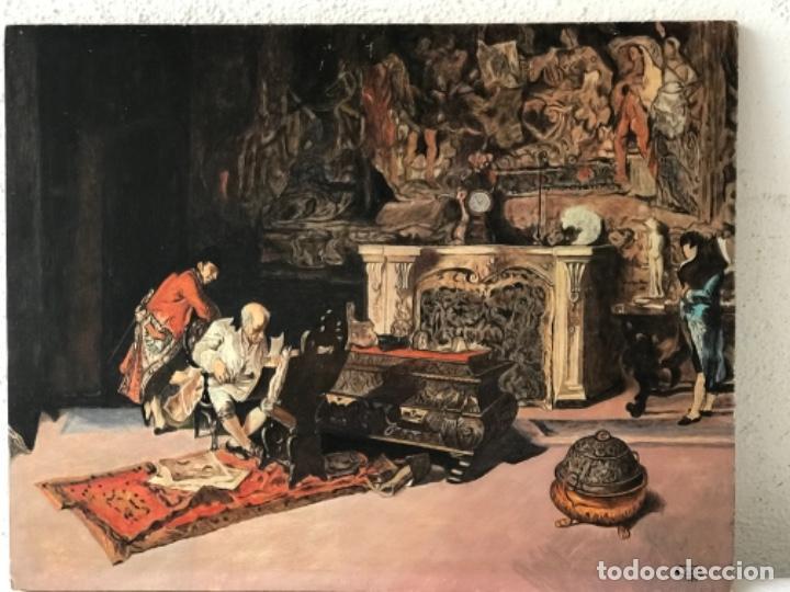 Arte: OLEO SOBRE TABLEX COPIA DE MARIA FORTUNY. - Foto 3 - 257265815