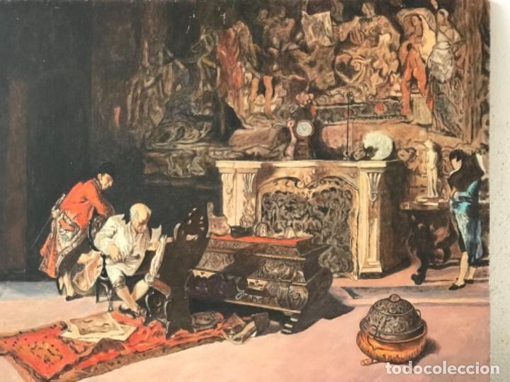 Arte: OLEO SOBRE TABLEX COPIA DE MARIA FORTUNY. - Foto 5 - 257265815