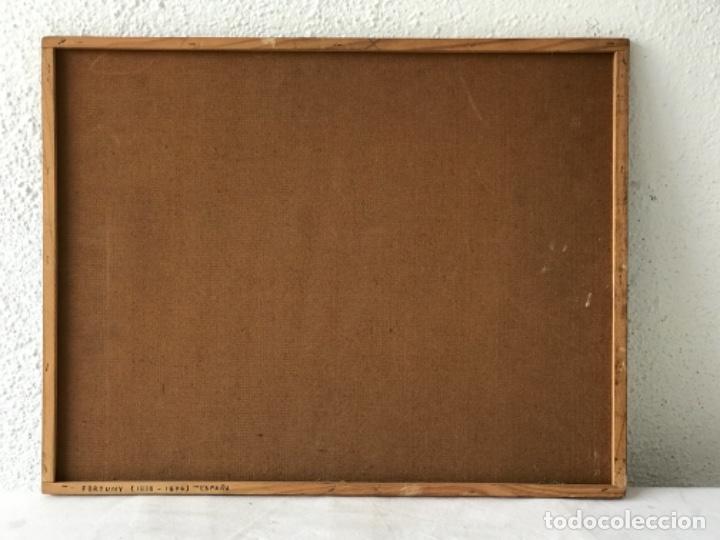 Arte: OLEO SOBRE TABLEX COPIA DE MARIA FORTUNY. - Foto 6 - 257265815