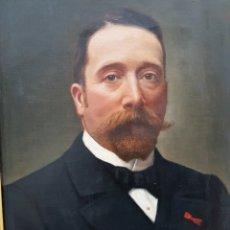 Arte: MUY BUEN RETRATO CABALLERO ÓLEO LIENZO FIRMADO Y FECHADO 1903. Lote 257310670
