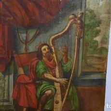 Arte: OLEO SOBRE TABLA SIGLO XVI-XVII ,MUSICO. Lote 257322070