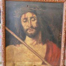 Arte: ANTIGUO OLEO EN MADERA DE ECCE HOMO .. SIGLO XIX.. ATRIBUIDA A ESCUELA ITALIANA. Lote 257336300