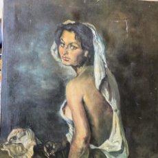 Arte: ANTIGUO OLEO MUJER GITANA.. ANÓNIMO.. PERO SIGUIENDO CORRIENTE DEL PINTOR JULIO ROMERO DE TORRES. Lote 257340185