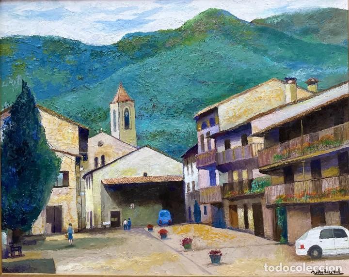 Arte: RAMON AGUILAR MORÉ - ÓLEO - HOSTALETS DEN BAS - 53 x 66,5 cm. - Foto 2 - 256146690