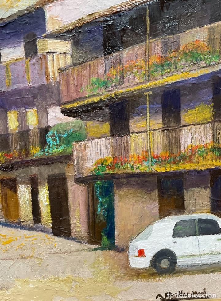 Arte: RAMON AGUILAR MORÉ - ÓLEO - HOSTALETS DEN BAS - 53 x 66,5 cm. - Foto 3 - 256146690