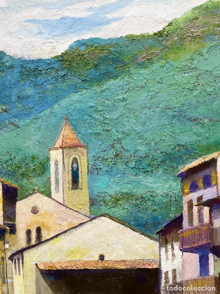 Arte: RAMON AGUILAR MORÉ - ÓLEO - HOSTALETS DEN BAS - 53 x 66,5 cm. - Foto 9 - 256146690