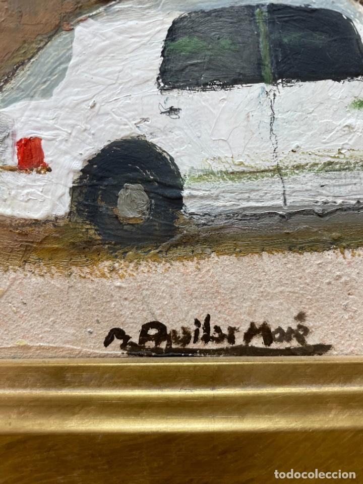 Arte: RAMON AGUILAR MORÉ - ÓLEO - HOSTALETS DEN BAS - 53 x 66,5 cm. - Foto 8 - 256146690