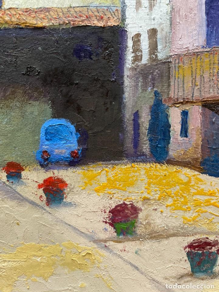Arte: RAMON AGUILAR MORÉ - ÓLEO - HOSTALETS DEN BAS - 53 x 66,5 cm. - Foto 6 - 256146690