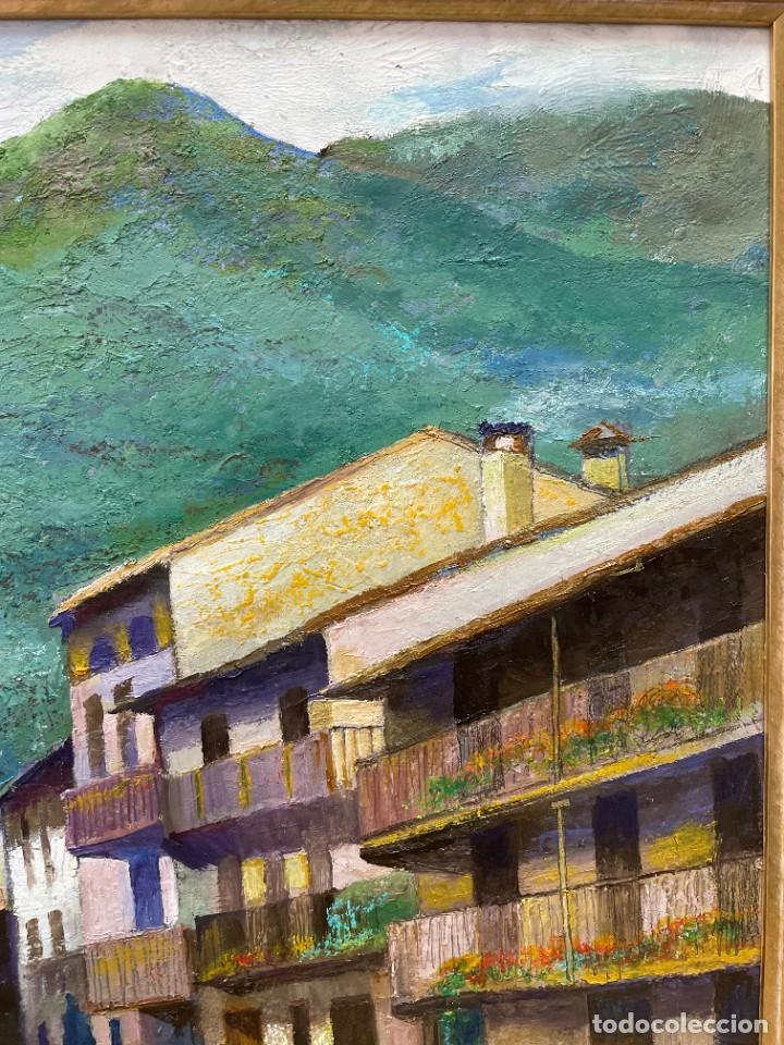 Arte: RAMON AGUILAR MORÉ - ÓLEO - HOSTALETS DEN BAS - 53 x 66,5 cm. - Foto 10 - 256146690