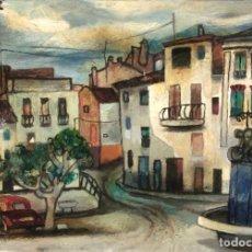 Arte: RAMON AGUILAR MORÉ - PINTURA SOBRE MADERA -. Lote 257432725