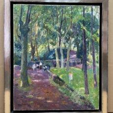 Arte: ÀNGEL CODINACH - FONT DE LES TRIES - OLOT - 61 X 50 CM.. Lote 257445930