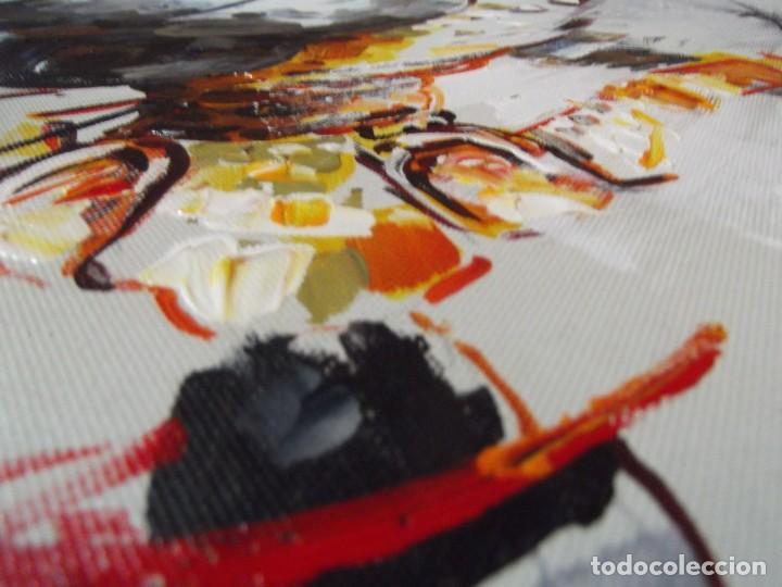 Arte: Magnifico óleo jinete Picador de toros , 61 x 50 cm - Foto 5 - 257603890