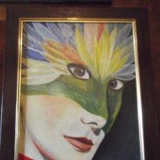 Arte: OLEO DEL ARTISTA M. BUENO , MUJER REAL . 50 X 38 CM. Lote 257604385