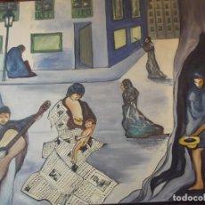 Arte: OLEO COLECCIÓN PRIVADA , SOBRE LIENZO DEL ARTISTA MIGUEL BUENO AÑO 1988 . 72 X 54 CM. Lote 257654375