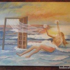 Arte: OLEO COLECCIÓN PRIVADA , ARTE MODERNO SOBRE LIENZO DEL ARTISTA M. BUENO 72X 54 SIGLO PASADO. Lote 257655410