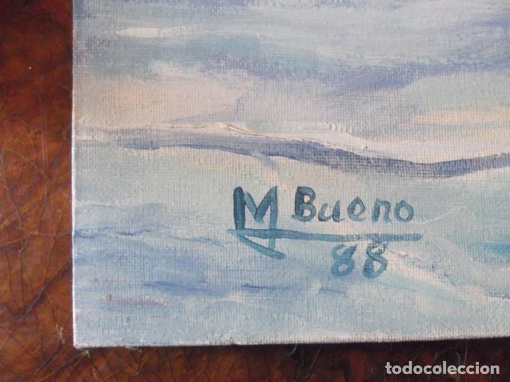 Arte: Oleo Colección privada , arte moderno sobre lienzo del Artista M. Bueno 72x 54 siglo pasado - Foto 3 - 257655410