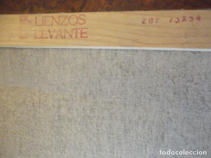 Arte: Oleo Colección privada , arte moderno sobre lienzo del Artista M. Bueno 72x 54 siglo pasado - Foto 6 - 257655410