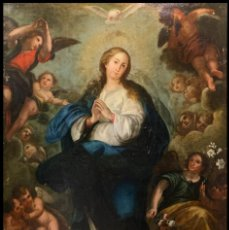 Arte: EXTRAORDINARIA INMACULADA ESPAÑOLA CON MARCO, S. XVIII, 231 CMS. Lote 257678065