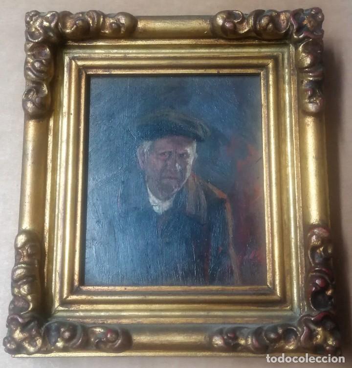 Arte: dos retratos al oleo sobre tabla. Jesús Gallego Rodríguez. Valladolid. Enmarcados. - Foto 4 - 257857485