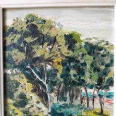 Arte: SALVADOR PEREZ BASSOLS (BARCELONA, 1948) OLEO SOBRE TABLA PAISAJE. Lote 258092650