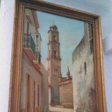 Arte: ÓLEO SOBRE LIENZO DEL JEREZANO PINTOR RETAMERO TORRE DE LA CATEDRAL. Lote 258242755