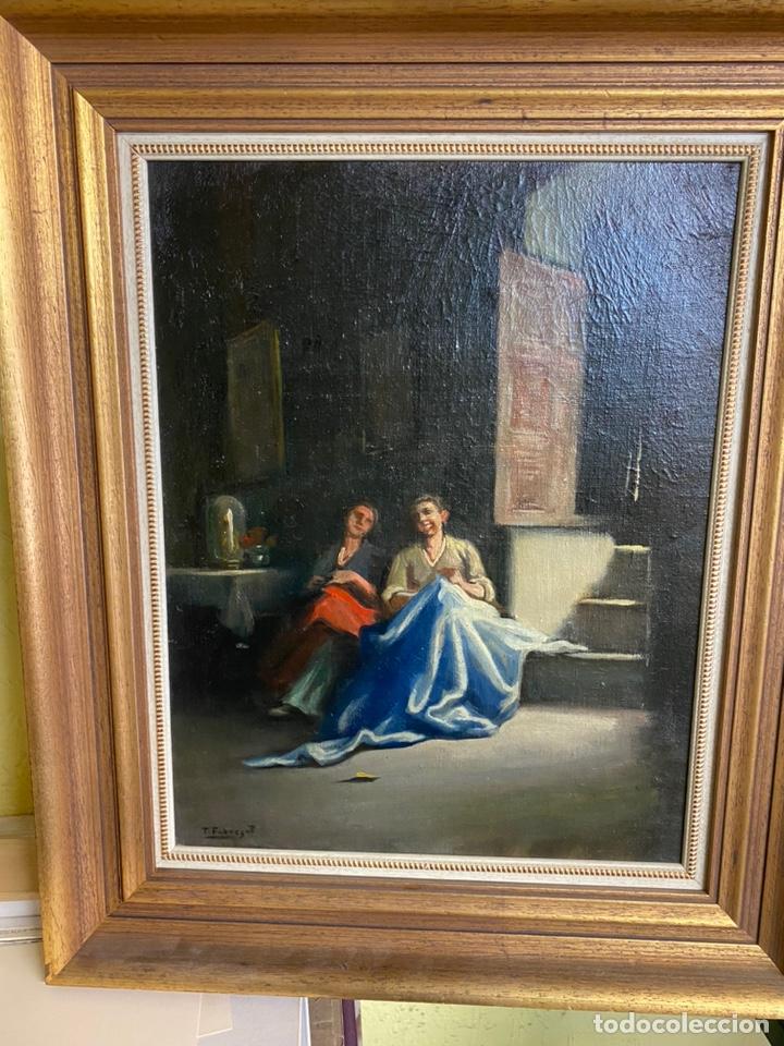 TOMÀS FABREGAT OLEO SOBRE LIENZO MEDIDAS 43X33 CON MARCO 55X46 (Arte - Pintura - Pintura al Óleo Moderna sin fecha definida)