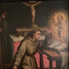 """Arte: OLEO SOBRE COBRE """"SAN ANTONIO"""". SIGLO XVII. CÍRCULO GRECO.. Lote 258219665"""
