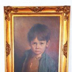 Arte: GIOVANNI BRAGOLIN (1911-1981) - BAMBINO LLORANDO - OLEO - 50 X 70 CM.. Lote 258810550