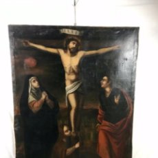 Arte: ESPECTACULAR (139 X 106CM) CALVARIO DE CRISTO ÓLEO LIENZO PRIN SG XVIII. Lote 258933210