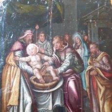 Arte: ÓLEO DEL SIGLO XVI O XVII, SOBRE TABLA. LA CIRCUNCISIÓN DE CRISTO.. Lote 258972725