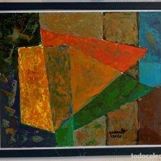 Arte: JOAN QUERALT Y DE QUADRAS. ÓLEO SOBRE PAPEL. ENMARCADO MADERA Y CRISTAL: 53,5 X 43,5. CERTIFICADO. Lote 254002620