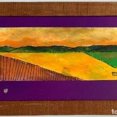 Arte: JOAN QUERALT DE QUADRAS (1.947) - ÓLEO SOBRE PAPEL - ENMARCADO MADERA Y CRISTAL 46 X 17. CERTIFICADO. Lote 259328720
