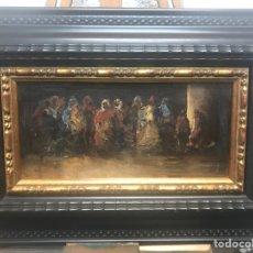 """Arte: """"PERSONAJES ORIENTALES"""" ÓLEO SOBRE TABLA ESCUELA DE LUCAS CON MARCO HOLANDÉS. Lote 259831480"""