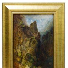 Arte: LUIS RIGALT Y FARRIOLS. (1814-1894). ÓLEO SOBRE LIENZO. ACANTILADO.. Lote 260035720