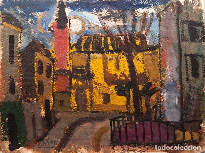 AGUSTÍN REDONDELA - 2 GOUACHES EN LA MISMA HOJA CARA Y DORSO (Arte - Pintura - Pintura al Óleo Contemporánea )