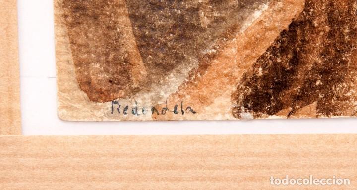 Arte: Agustín Redondela - 2 Gouaches en la misma hoja cara y dorso - Foto 11 - 260043165