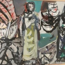 Arte: JAUME MUXART I DOMENECH. ÓLEO SOBRE PAPEL . FIRMADO. Lote 260064050