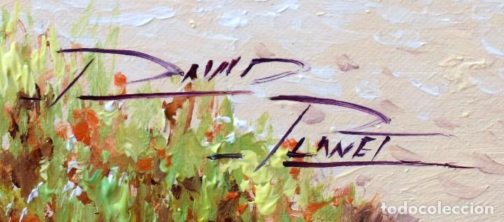 Arte: David Planet - Barcelona 1.977 - Óleo - Enmarcado Cala de Mallorca - Foto 7 - 198178221
