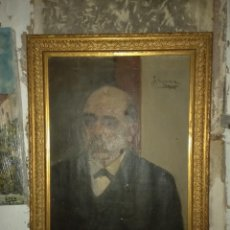 Art: FRANCISCO A. AUTORRETRATO PINTOR DISCIPULO DE MADRAZO ANTIGUA PINTURA OLEO FIRMA 1906. Lote 145098158