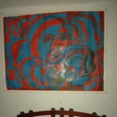 Arte: RETRATO ABSTRACTO DEL PINTOR MANUEL BAEZA. Lote 252831620