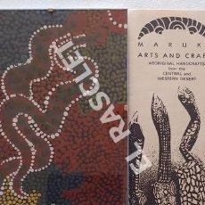 Arte: ANTIGÜO CUADRO ORIGINAL DE LA ARTESANIA MARUKU DE AUSTRALIA DEL DESIERTO CENTRAL Y OCIDENTAL. Lote 260410820