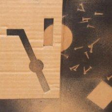 Arte: EVARIST VALLES I ROVIRA (1923 - 1999) TECNICA MIXTA Y COLLAGE SOBRE CARTON FECHADO DEL AÑO 1978. Lote 260463010