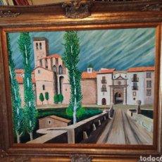 Arte: PINTURA AL OLEO, ENTRADA CIUDAD DE SOLSONA SIGLO XVIII, FIRMADA.. Lote 260642815