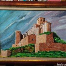 Arte: PINTURA AL OLEO CASTILLO DE CARDONA.. Lote 260643305