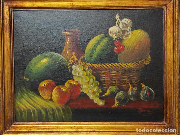 Arte: Decorativo Bodegón - Óleo sobre Tela - con Firma - Foto 2 - 260649555