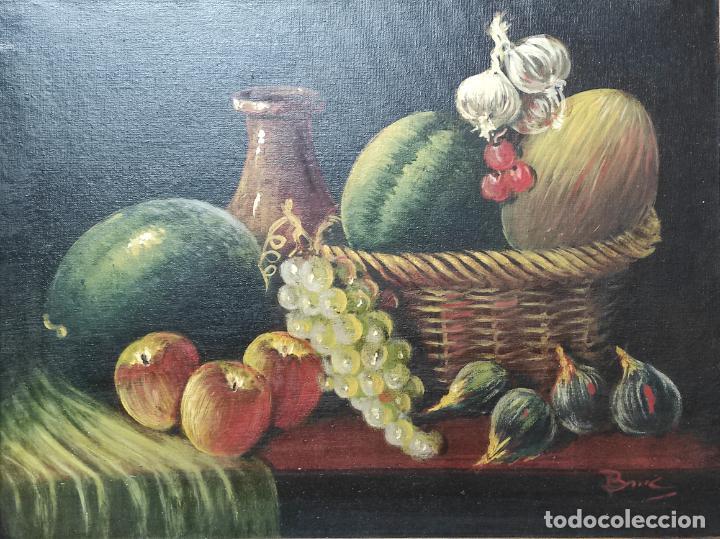 Arte: Decorativo Bodegón - Óleo sobre Tela - con Firma - Foto 3 - 260649555