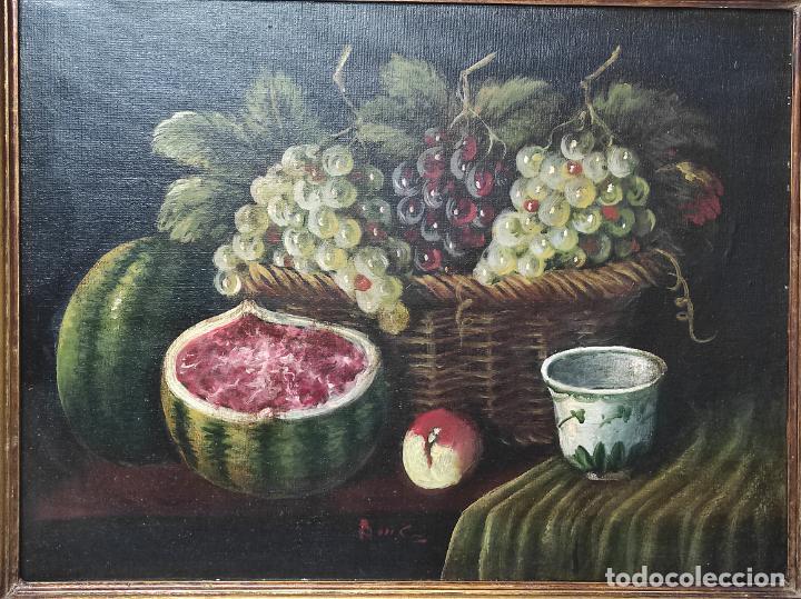 Arte: Decorativo Bodegón - Óleo sobre Tela - con Firma - Foto 3 - 260650265