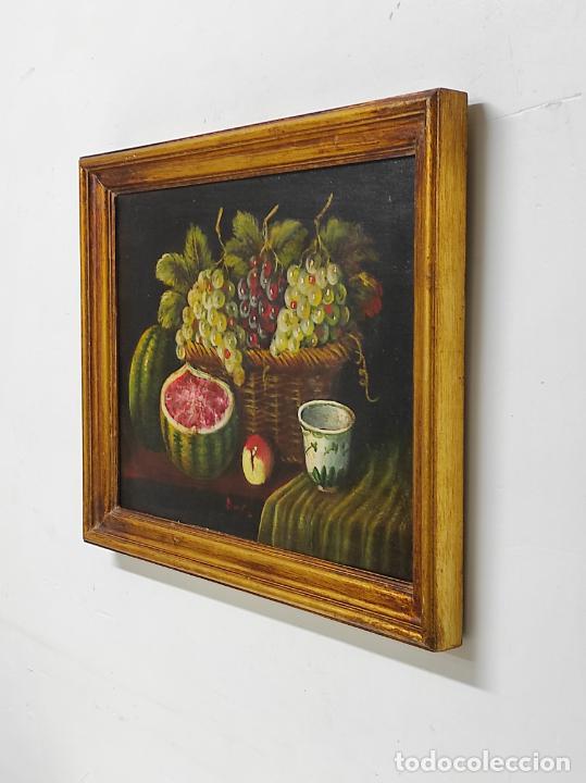 Arte: Decorativo Bodegón - Óleo sobre Tela - con Firma - Foto 7 - 260650265